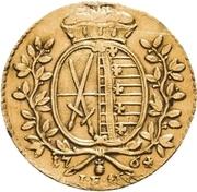 1 Ducat - Friedrich August III. – revers