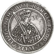 3 Thaler - Johann Georg I. (Vicariat) – avers