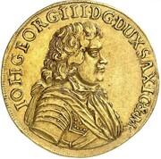 5 ducat Johann Georg III – avers