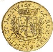 5 ducat Johann Georg III – revers