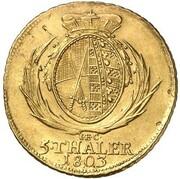 5 thaler Friedrich August III – revers