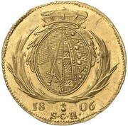 1 ducat Friedrich August III – revers