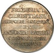 1/12 Thaler - Friedrich August II (Mariage du prince Friedrich Christian) – avers