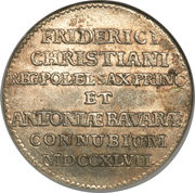 1/12 Thaler - Friedrich August II (Mariage du prince Friedrich Christian) – revers