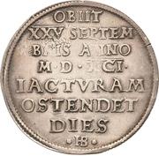 ½ Thaler - Christian I. (Décès) – revers