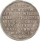 1 Thaler - Christian I. (Décès) – revers