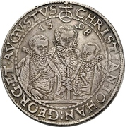 2 Thaler - Christian II., Johann Georg et August – avers