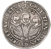 ½ Thaler - Christian, Johann Georg and August – avers
