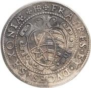 ½ Thaler - Christian II, Johann Georg I and August – revers