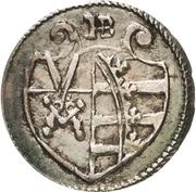 1 Pfennig - Christian II., Johann Georg I. and August – avers