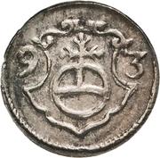 1 Pfennig - Christian II., Johann Georg I. and August – revers