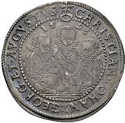 ½ Thaler - Christian II, Johann Georg I and August – avers