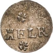 1 Heller - Christian II., Johann Georg I. and August – revers