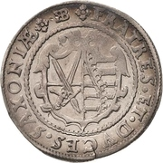 ¼ Thaler - Christian II., Johann Georg I. and August – revers