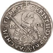 ¼ Thaler - Christian II., Johann Georg I. and August – avers