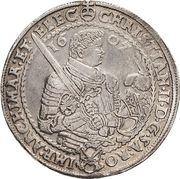 2 Thaler - Christian II., Johann Georg I. and August – avers