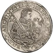 2 Thaler - Christian II., Johann Georg and August – avers