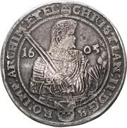 3 Thaler - Christian II., Johann Georg and August – avers