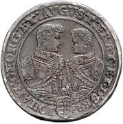 3 Thaler - Christian II., Johann Georg and August – revers
