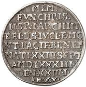 ¼ Thaler - Christian II., Johann Georg and August – avers