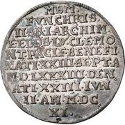 ½ Thaler - Christian II., Johann Georg I. and August (Décès) – avers