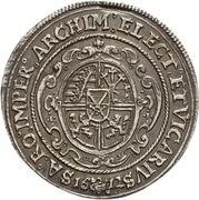 ¼ Thaler - Johann Georg I. and August (Vicariat) – revers