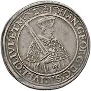 ½ Thaler - Johann Georg I. and August (Vicariat) – avers