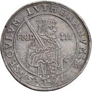½ Thaler - Johann Georg I. (Reformation) – revers