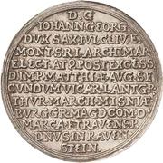 ¼ Thaler - Johann Georg I. (Vicariat) – revers