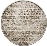 ½ Thaler - Johann Georg I. (Vicariat) – revers