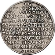 2 Thaler - Johann Georg I. (Vicariat) – revers