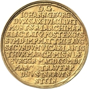 5 Ducat - Johann Georg I. (Vicariat) – revers