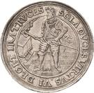 2 Thaler - Johann Georg I. (Accession; Affentaler) – avers