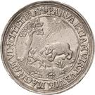 2 Thaler - Johann Georg I. (Accession; Affentaler) – revers