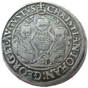 ¼ thaler Christian II, Johann Georg I et August – avers