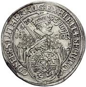 ¼ Thaler - Johann Georg I. (Augsburg confession) – avers