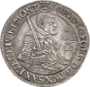 ½ Thaler - Johann Georg I. – avers