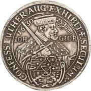 1 Thaler - Johann Georg I. (Augsburg Confession) – avers