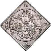 1 Thaler - Johann Georg I. (Klippe; Wedding) – revers