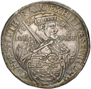 2 Thaler - Johann Georg I. (Augsburg confession) – avers