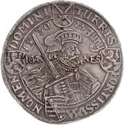 2 Thaler - Johann Georg I. (Augsburg confession) – revers