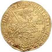 5 Ducat - Johann Georg I. (Augsburg confession) – avers