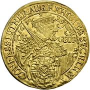 3 Ducat - Johann Georg I. (Augsburg confession) – avers