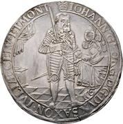 3 Thaler - Johann georg I. (Peace) – avers