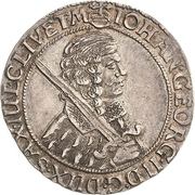 ¼ Thaler - Johann Georg II. – avers
