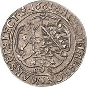 ¼ Thaler - Johann Georg II. – revers