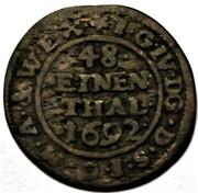 1/48 thaler Johann Georg IV – revers