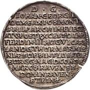 ¼ Thaler - Johann Georg II. (Vicariat) – revers