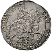 ½ Thaler - Johann Georg II. (Vicariat) – avers