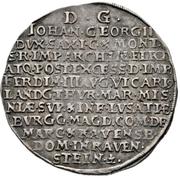 ½ Thaler - Johann Georg II. (Vicariat) – revers